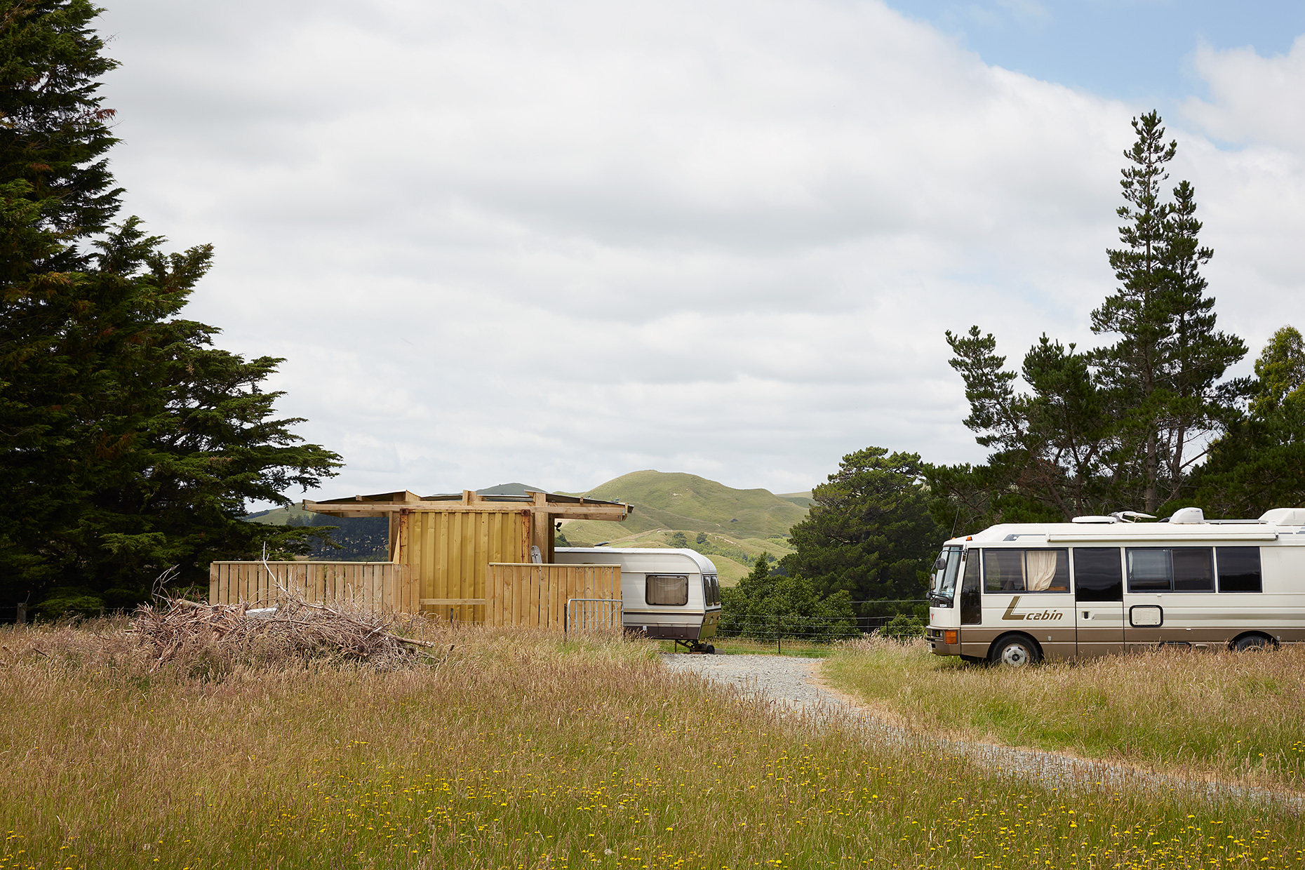 Mobile homes, Eketahuna, New Zealand, 2019